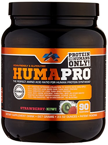 ALR Industries Humapro Protein Matrix Formulated for Humans, Strawberry Kiwi, 667 Gram