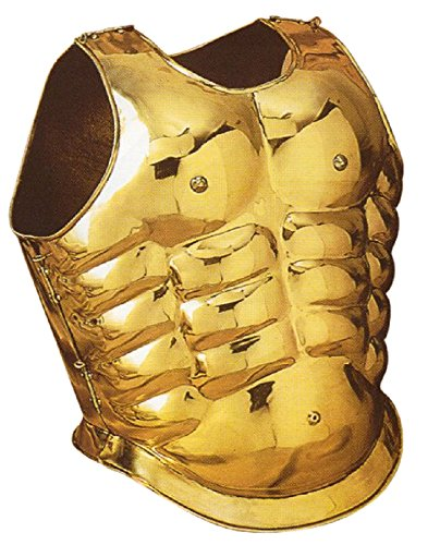 Greek Muscle Armor - Brass - One Size Fit All - Gold Armour]()