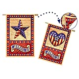 Evergreen Suede American Star And Heart Independence Two Sided House Flag, 29 x 43 inches Review