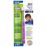 Brilliant Child Toothbrush by Baby Buddy - For Ages 2+ Years, BPA Free Super-Fine Micro Bristles Clean All-Around Mouth, Kids Love Them, Purple, 1 Count