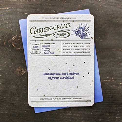 Bloomin Garden Grams Seed Paper Greeting Cards -Herb Seed {3 Pack} Sales