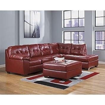 Marvelous Amazon Com Ashley Furniture Alliston 3 Piece Leather Squirreltailoven Fun Painted Chair Ideas Images Squirreltailovenorg
