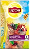 Lipton Tea and Honey Iced Green Tea To Go Packets, Blackberry Pomegranate 10 ct (Pack of 6)