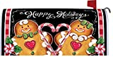 Gingerbread Holiday - Mailbox Makeover - Vinyl with Magnetic Strips - Licensed, Copyrighted and Made in the USA by Custom Decor Inc.