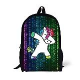 Hip Hop Dabbing Dab Dance Cute Lovely Unicorn Kids School Backpack for Elementary Girl Boy