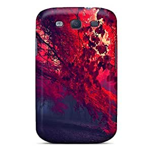 For Galaxy S3 Tpu Phone Case Cover(dark Red Forest)