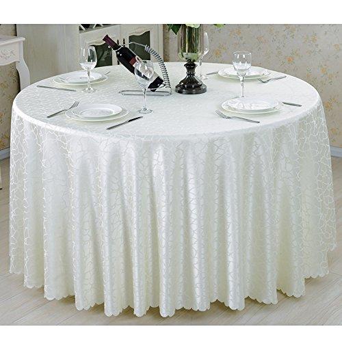 A ROUND320CM Beau Nappe ronde Nappe en tissu Toile de table grande nappe ronde Nappe d'hôtel Nappe ronde simple (5 couleurs en option) (taille facultative) durable (Couleur   A, taille   ROUND320CM)