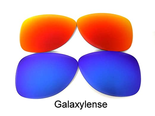 c6107dad1d Amazon.com  Galaxy Replacement Lenses for Oakley Crosshair 1.0 Blue Red  Polarized