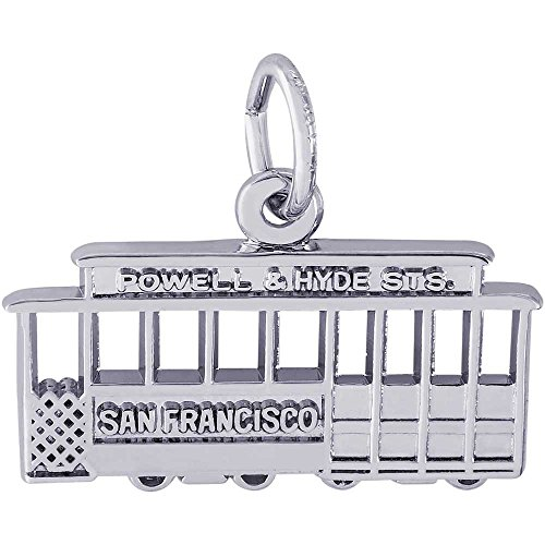 Rembrandt Charms San Francisco Cable Car Charm, Sterling Silver ()