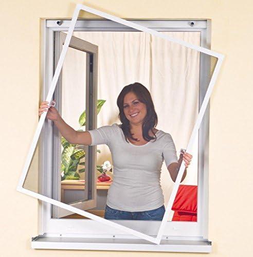Mako EasyLife 886005/A Moustiquaires pour fen/être avec cadre en aluminium Blanc 120/x 140/cm