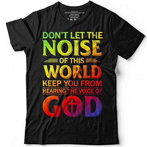 - Don't Let The Noise Of This World Keep You From Hearing The Voice Of God Customized Handmade T-Shirt Hoodie/Long Sleeve/Tank Top/Sweatshirt