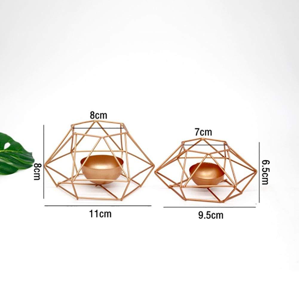 OPSLEA Goldene kreative Kerzenständer-geometrische Form-einfache Schießen-Requisiten Hauptpolygon-Verzierungen