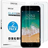 OMOTON SmoothArmor 9H Hardness HD Tempered Glass Screen Protector for Apple iPhone 8 Plus/iPhone 7 Plus, 2 Pack