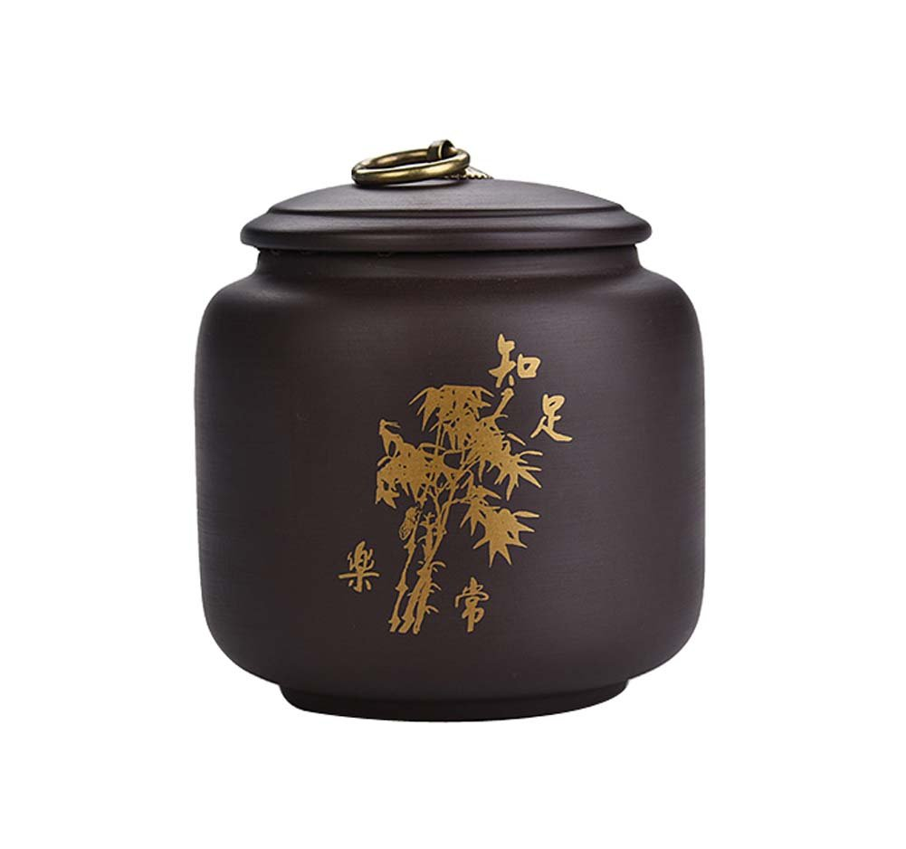 Purple Clay Food Storage Jar Chinese Style Tea Canister with Airtight Lid, No.001 Koala Superstore