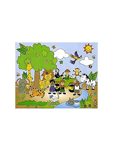 Fun Express Safari Animal Sticker Scenes - 12 Piece Pack