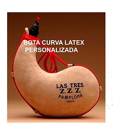 Las Tres Z Z Z Bota de Vino Curva de Latex- Personalizada - 2 lit