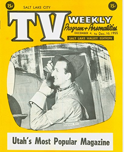 1955 TV Weekly December 4 Engineer Ron - Salt Lake City Edition Excellent (5 out of 10) Lightly Used by Mickeys - Salt Ron