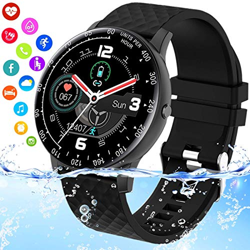 iFuntecky Smart Watch,Smartwatch for Android Phones, Ip67 Waterproof Fitness Watch with Blood Pressure Heart Rate…