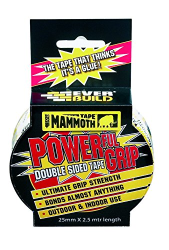 Mammoth Powerful Grip Tape - Re-enforced double-sided tape - 25mm x 2.5m -...