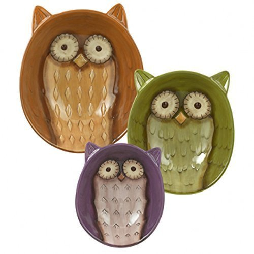 Grasslands Road Owl Bowls Set of 3