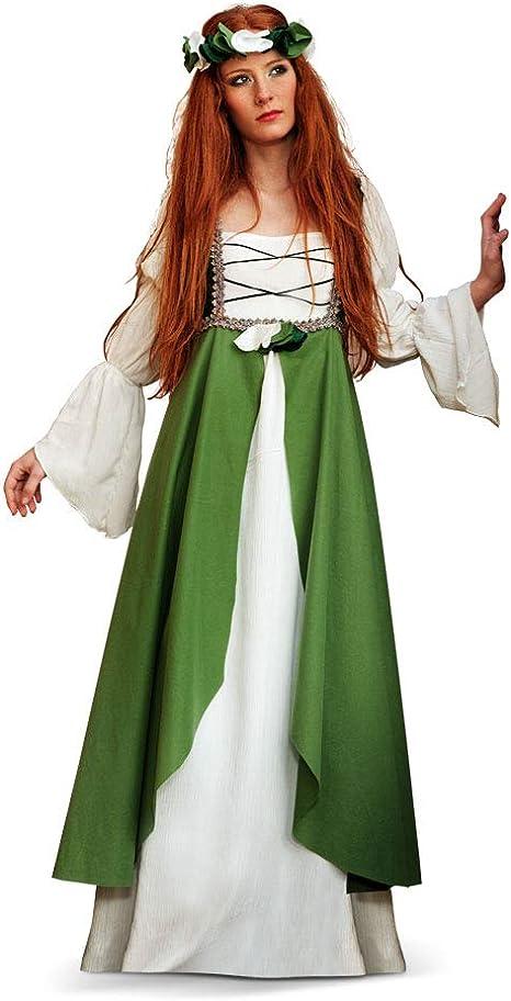 Limit Sport - Disfraz medieval Clarisa, para adultos, color verde ...