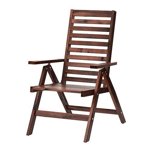 IKEA Reclining Chair, Outdoor, Brown Foldable Brown Stained Brown ()