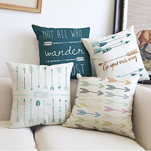 Pillow Case, Howstar Arrow Printing Sofa Cushion Cover Home Decoration Pillowcase 45x45 cm (C)