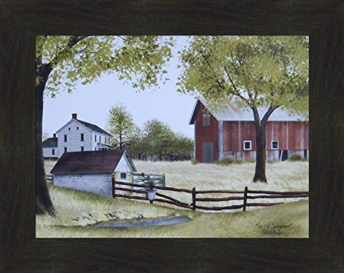 The Old Springhouse by Billy Jacobs 16x20 Farmhouse Barn Well Country Primitive Folk Art Framed Picture