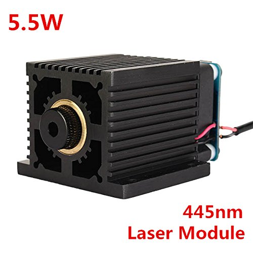 445nm 5500mW Blue Laser Module With Heat Sink For DIY Laser Engraver Machine by LEEPRA (Image #2)
