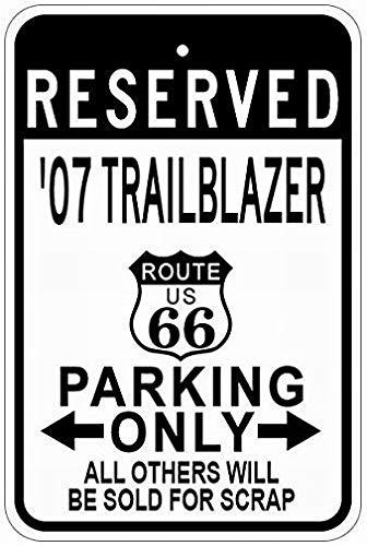 LoMall 2007 07 Chevy Trailblazer Route 66 Tin Metal Sign 12x16 Warning Notice Garage Sign (66 Blazer Route)