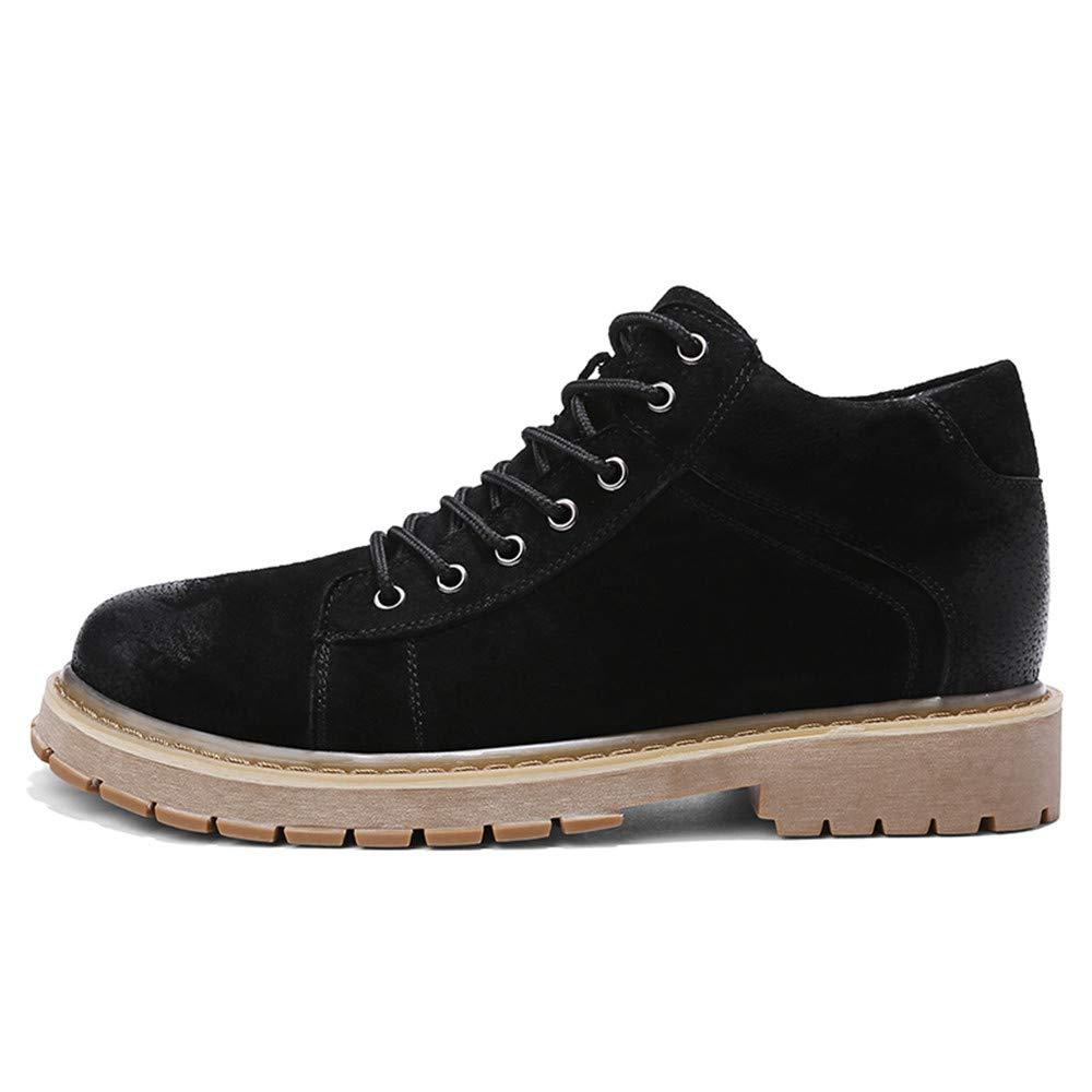 Xiaojuan-Botas Cómodos Zapatos Zapatos Zapatos de Tobillo Antideslizantes para Hombres Moda Casual Zapatos de Trabajo con Suela Superior Retro (Color : Negro, tamaño : 38 EU) 81850d