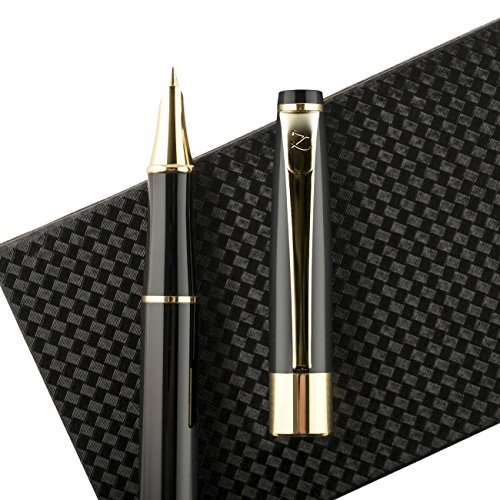 fountain-pen-fine-nib-with-gift-case-and-ink-refill-converter-showtime-black-limited-edition-best-mo