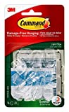 Command Outdoor Light Clips, Clear, 16-Clip, 4-Pack