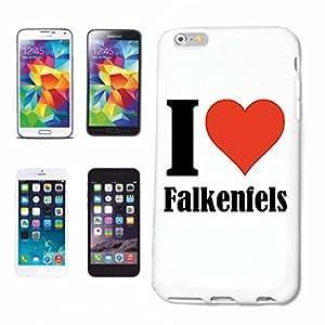 """cubierta del teléfono inteligente iPhone 4 / 4S """"I Love Falkenfels"""" Cubierta elegante de la cubierta del caso de Shell duro de protección para el teléfono celular Apple iPhone … en blanco ... delgado y hermoso, ese es nuestro hardcase. El caso se fija con un clic en su teléfono inteligente"""
