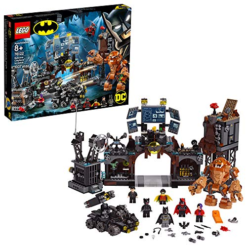 LEGO DC Batman Batcave Clayface Invasion 76122 Batman Toy Building Kit with Batman and Bruce Wayne Action Minifigures, Popular DC Superhero Toy, New 2019 (1037 Pieces) from LEGO