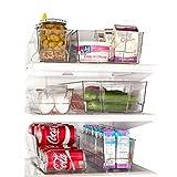 Clever Home Fridge Organizer Set of 6 - Refrigerator Freezer Bins with ...