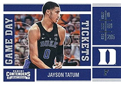 2017-18 Panini Contenders Draft Picks Game Day Tickets  5 Jayson Tatum Duke  Blue 2205577f7