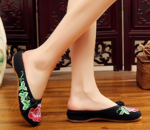 Lazutom pour Chaussons Femme Femme Lazutom Lazutom Chaussons Noir Chaussons pour Noir Y8OZqw