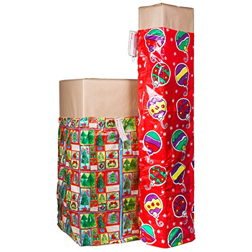 2 XL Christmas Holiday Gift Bags For Big Presents Set Tags Santa Christmas