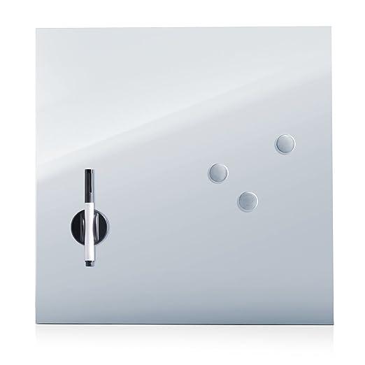 114 opinioni per Zeller 11651Lavagnetta in vetro, legno, argento, 40 x 40 cm