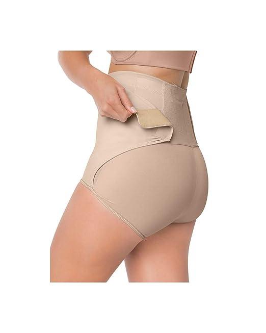 de873c2d637ac Leonisa Women s High-Waist Postpartum Panty with Adjustable Belly Wrap