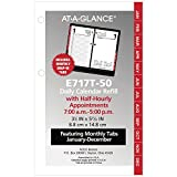 at-A-Glance Daily Desk Calendar Refill with Monthly Tabs, January 2019 - December 2019, 3-1/2'' x 6'', Loose Leaf (E717T50)