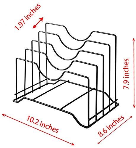 Kitchen Stainless Iron Cutting Board Holder, Cutting Board Storage Organizer , Pot Lid Rack Organizer Kitchen Cabinet Rack… pot lid holders