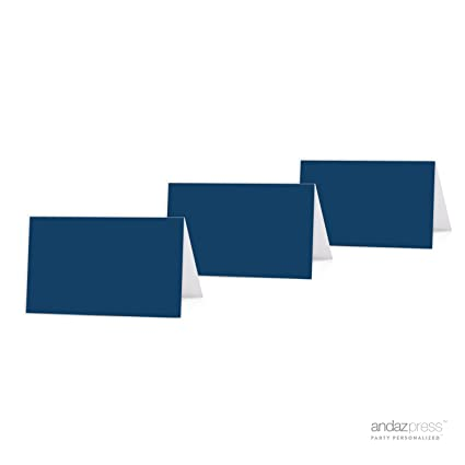 andaz press table tent printable place cards on perforated paper blank navy blue 20 - Printable Place Cards
