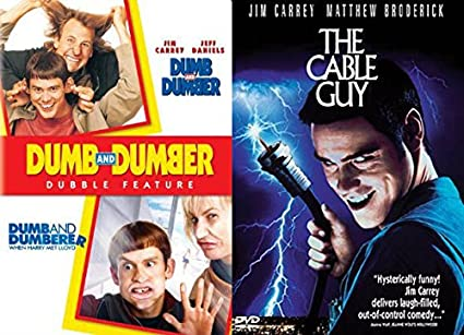 Amazoncom Dumb Jim Carrey Movies The Cable Guy Dumb And Dumber
