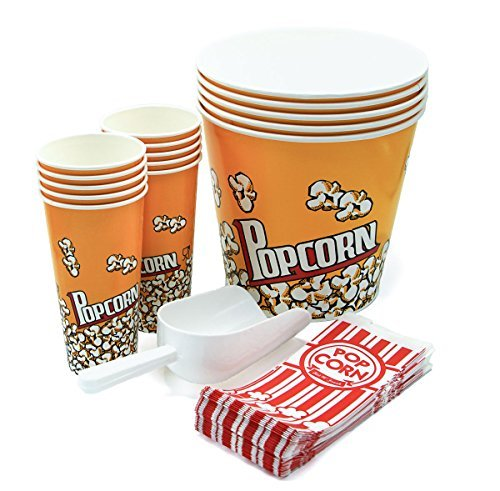 ontainers - 5 Buckets (170oz) - 10 Cups (24oz) - 35 Paper Bags (1oz) plus White Plastic Scoop ()