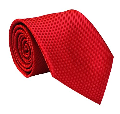 Secdtie Men's Fashion Hot Red Ties Adults Formal Self Necktie Father's Day gifts