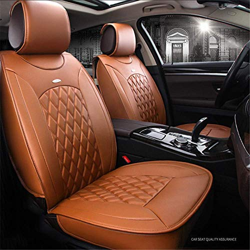 5 PU Leather Seats Seat Cushion Leather Universal Seat Seat Cushion Complete Car Cushion Seat Ventilated Car Seat Protector (Black), Yellow: