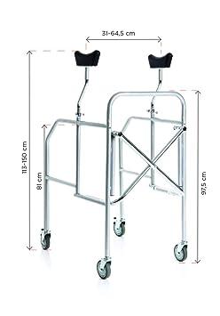 andador axilas para personas mayores Plegable de acero ...