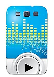 New Snap-on Illumineizl Skin Case Cover Compatible With Galaxy S3- Music Player